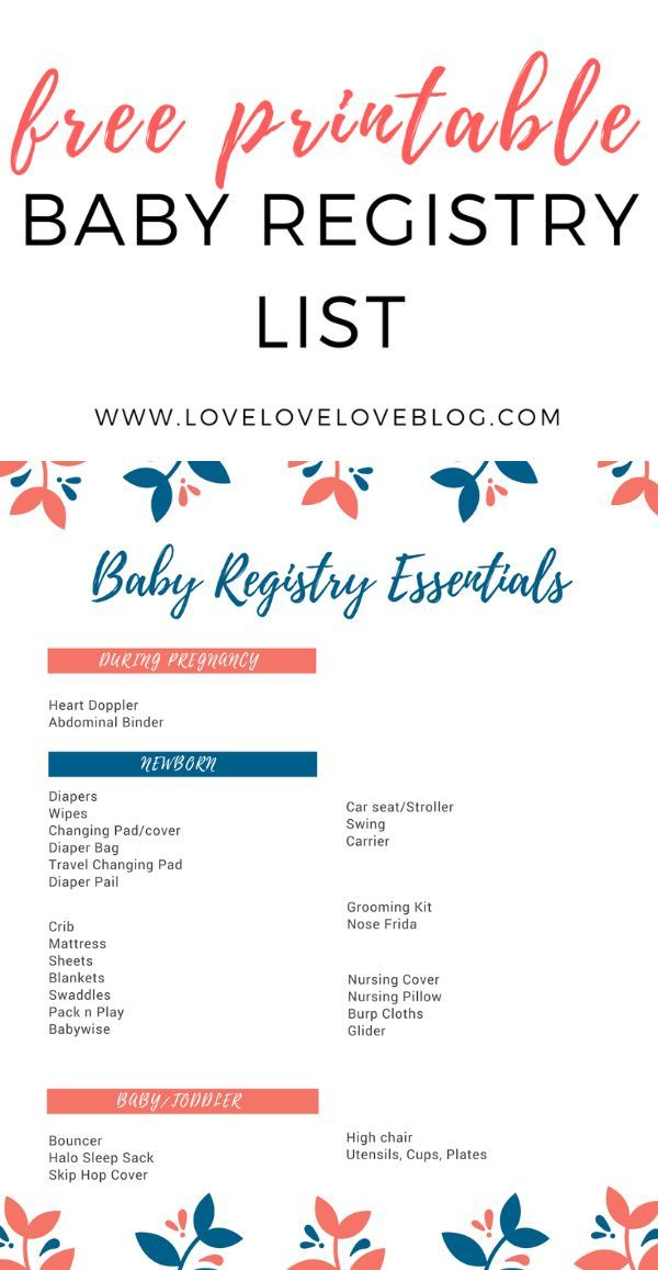 The Only Baby Registry Checklist You\u0027ll Ever Need Maternity - baby registry checklists