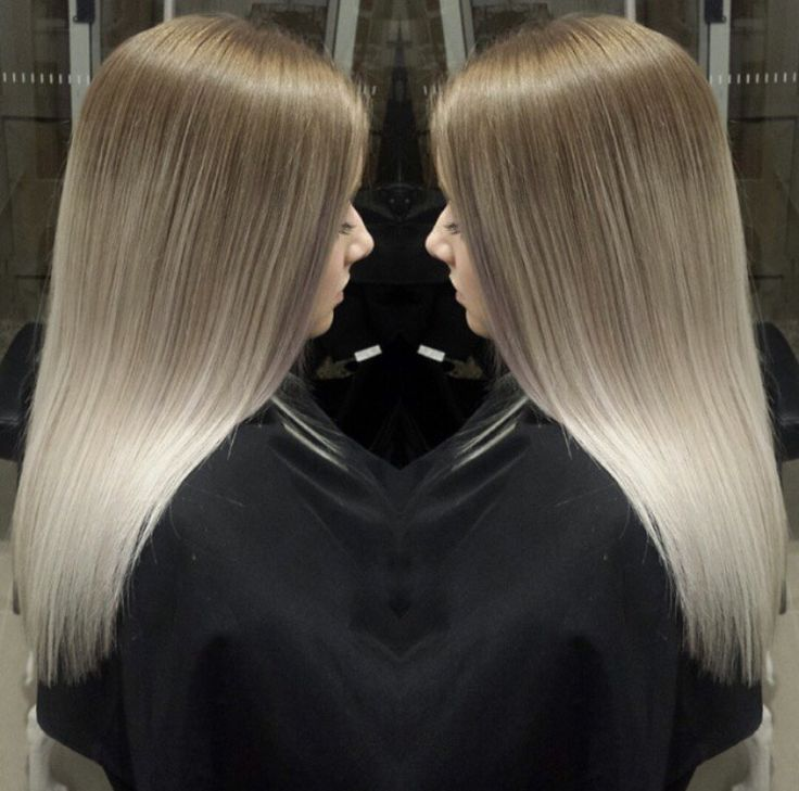 Balayage hair. Ash brown to platinum blonde. Source ...