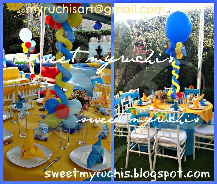 Best 24 centros de mesa infantiles images on pinterest for Mesas fiestas infantiles