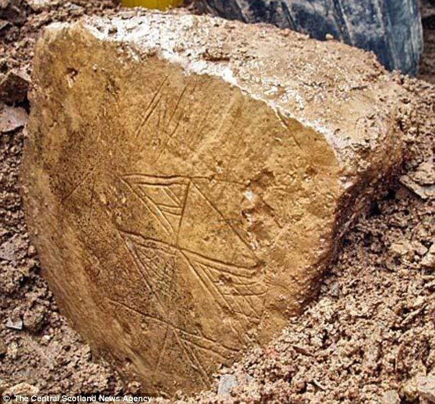 Archaeologists discover 'finest ever' piece of Neolithic art that was part of vast temple complex built in 3,500BC Stone uncovered last night on the Ness of Brodgar in Orkney, Scotland Found at base of Neolithic cathedral's south-west internal corner at site Excavations began in 2003 and buildings and houses have been found