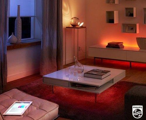 Philips Hue Lights And Strip Bench. Led Light StripsHome LightingInterior  ...