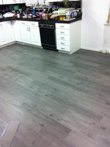 6 In X 36 In Satin Oak Resilient Vinyl Plank Flooring