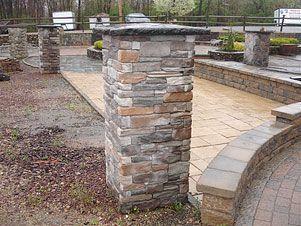 Pre built stone pillars or piers driveway columns for Premade columns