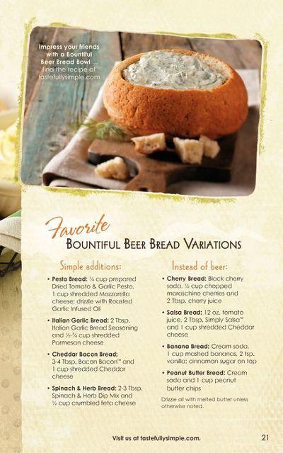 Tastefully simple bread recipes can be found at www.tastefullysimple.com/web/epavusek