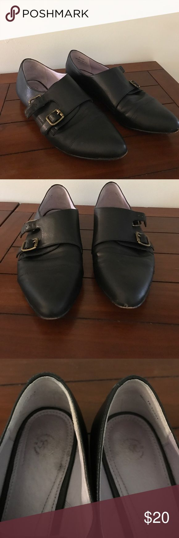 Johnson and Murphy black loafers. Good used condition. Small scuff on toe but lots of wear left. Size 9 but fits more like 8.5. Johnston & Murphy Shoes Flats & Loafers