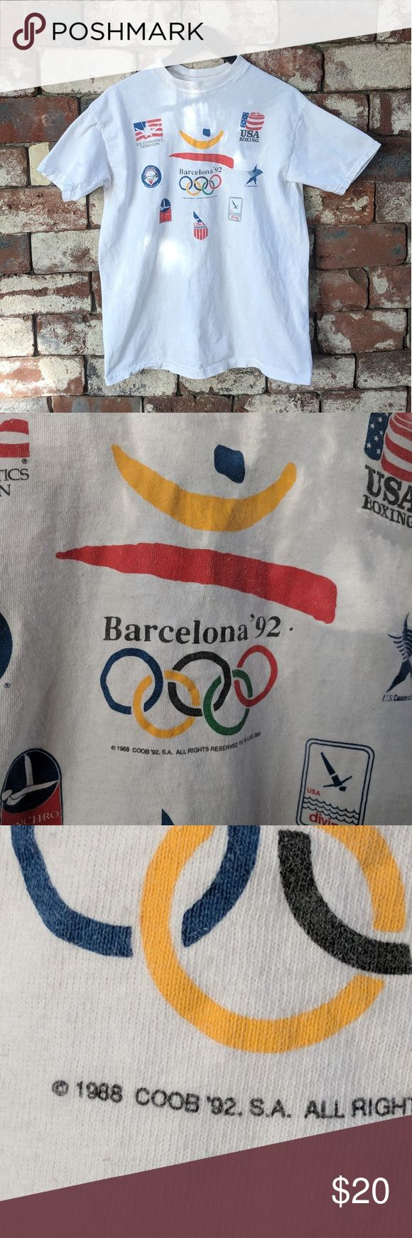 Vintage Barcelona '92 Olympics t-shirt Vintage Barcelona '92 Olympics t-shirt Team USA Size XL Tagged 1988 Made in USA   #olymlics #barcelona #spain #1992 #90s #vintage #80s #1988 #goldmedal #silver #bronze #teamusa #gymnastics #boxing #swimming #diving #weightlifting Shirts Tees - Short Sleeve