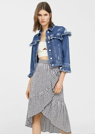 Organic cotton denim jacket | MANGO