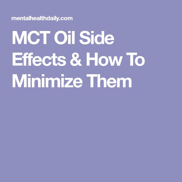 MCT Oil Side Effects & How To Minimize Them