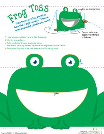 Worksheets: Coin Toss: Mr. Frog