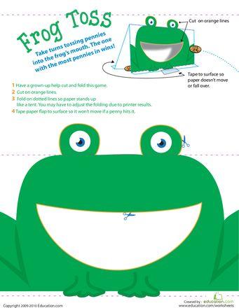 Worksheets: Coin Toss: Mr. Frog