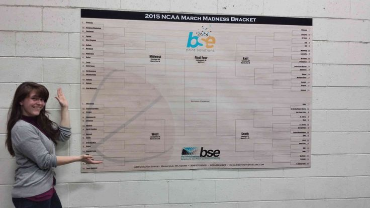 March Madness Bracket Large Format Print HP Latex 260