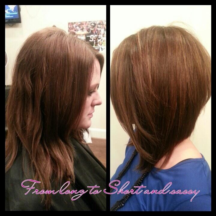 Long Diagonal Forward Stacked Bob Haircut