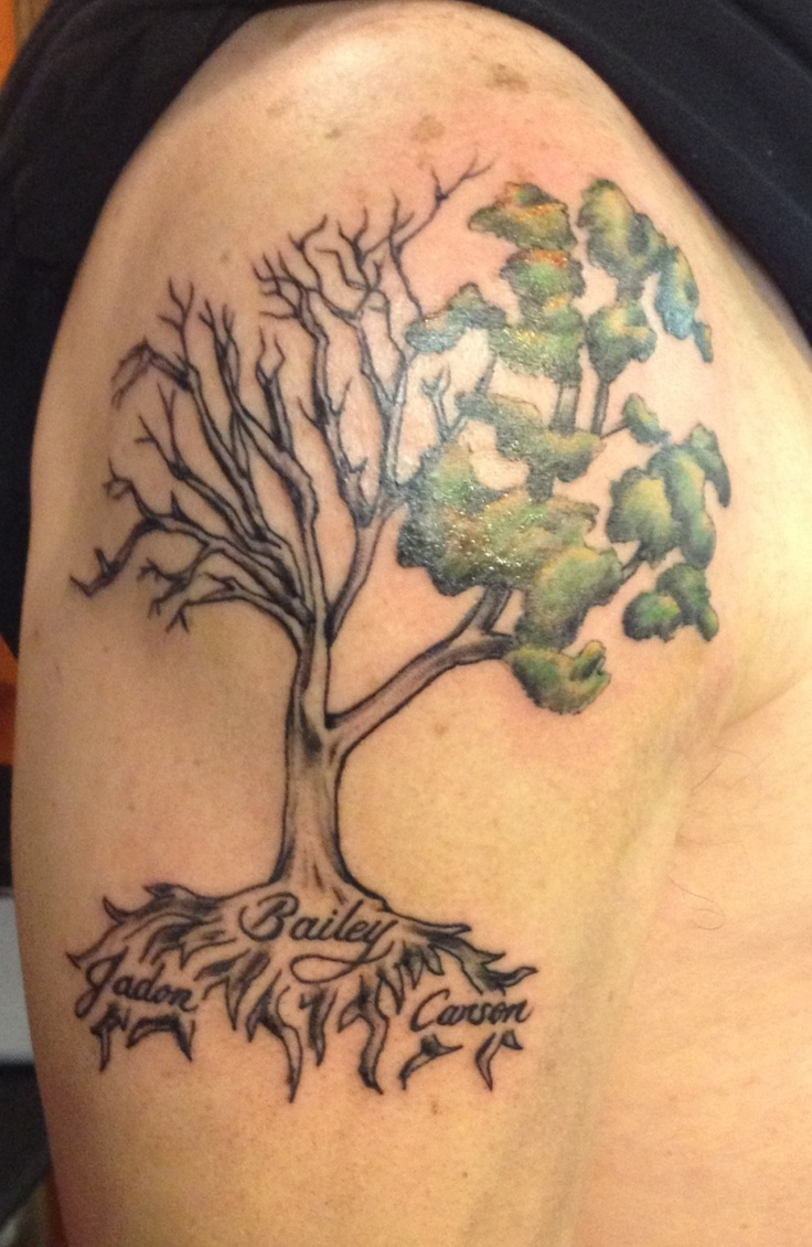 Living tree half dead for the past half alive for the for Death tree tattoo