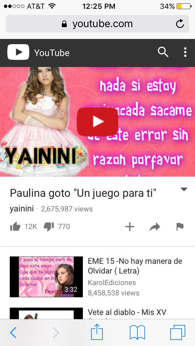 I Looove this Song!!! #Listen to Paulina Goto's Song's.