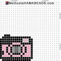 Me gusta Hama beads mini camara
