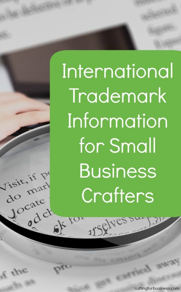 International Trademark Info for Silhouette & Cricut Crafters - by cuttingforbusiness.com