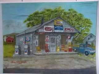 Oscar Carter's store down by a local artist.