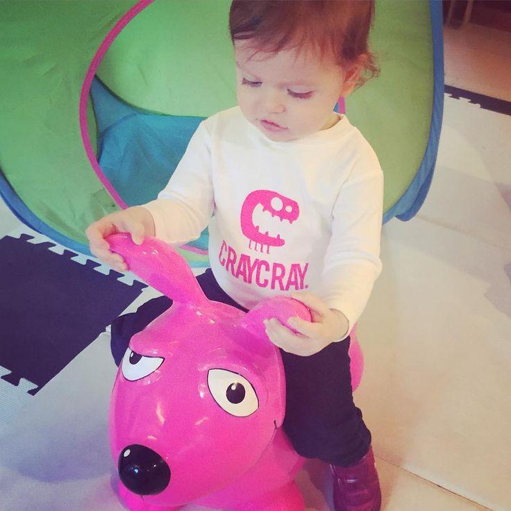 """Craycray for the pink doggie! #swedey #kidsfashion #craycray #hotpink www.swedey.com"""