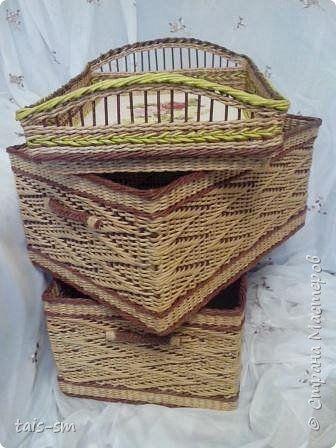 Поделка изделие Плетение ах коробки коробочки  Трубочки бумажные фото 2