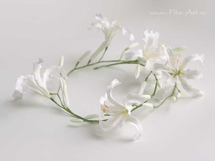 Wedding: Bridal wreath with white Nerina - AVAILABLE - Fito Art