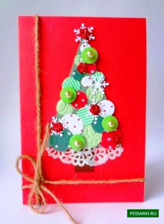 Новогодние открытки своими руками1