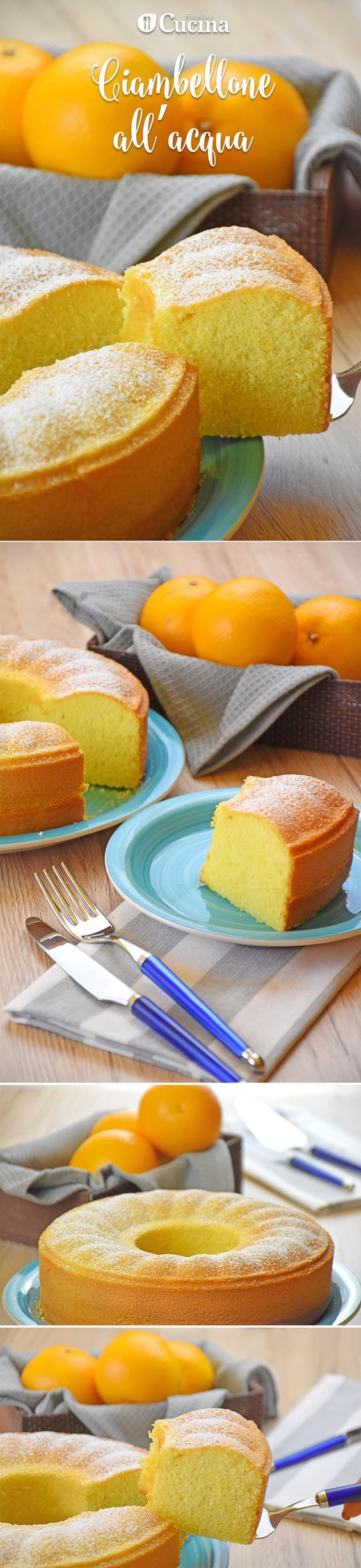 Il ciambellone all'acqua all'arancia è un dolce morbido e gustoso sebbene senza uova e senza latte. Ecco la #videoricetta