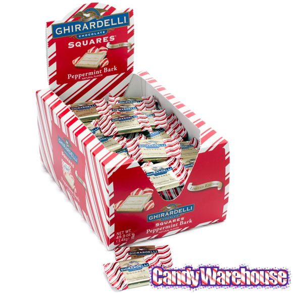 Ghirardelli Peppermint Bark Squares: 120-Piece Box