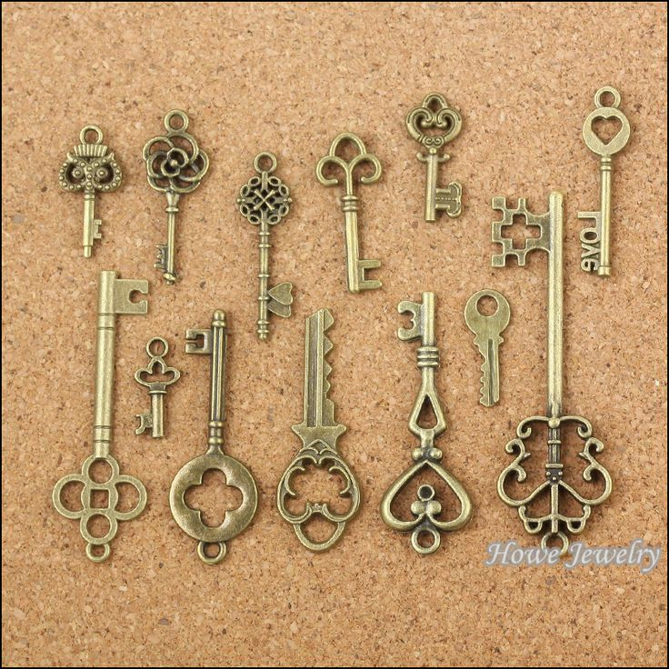 Wholesale 39 pcs Vintage Charms Mixed Keys Pendant Antique bronze Fit Bracelets Necklace DIY Metal Jewelry Making 10011-in Charms from Jewelry on Aliexpress.com | Alibaba Group