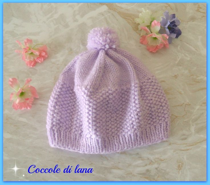"""Waiting for spring! Hat for baby girls, age 10-12 months, hand-knitted. Search for it in the store """"Coccole di lana"""" on www.misshobby.com"""
