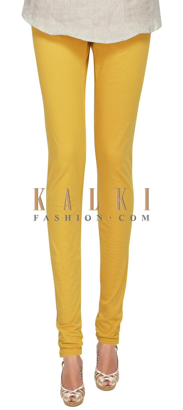 Buy Online from the link below. We ship worldwide (Free Shipping over US$100) Price- $9 Click Anywhere to Tag http://www.kalkifashion.com/yellow-cotton-hosiery-legging-only-on-kalki.html