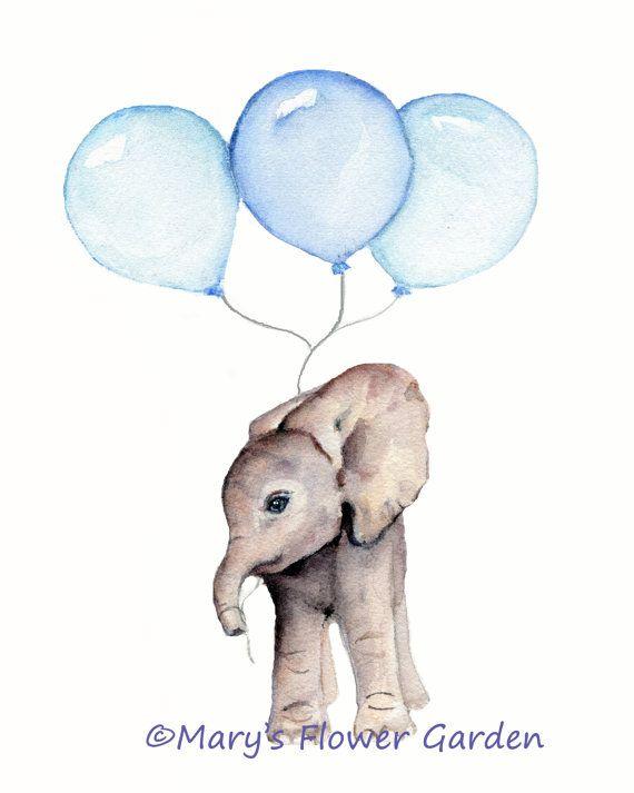 Elefantenbaby drucken, junge Kindergarten Dekor, Baby-jungen-Geschenk, Elefanten Drucke Kinderzimmer, jungen Zimmer, Elefant-Abbildung