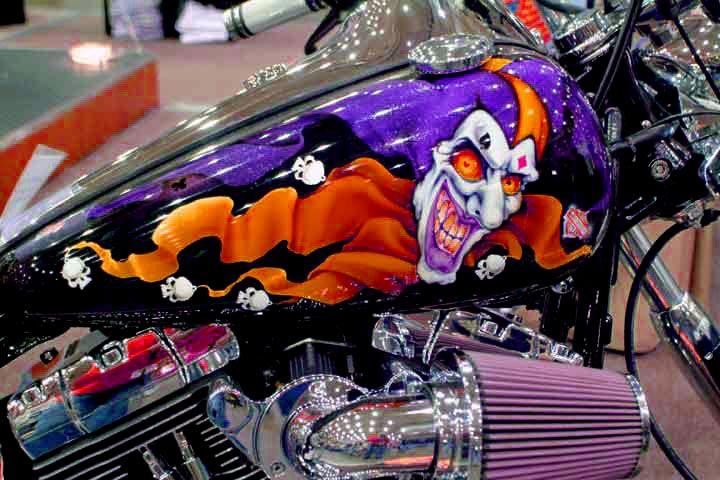 Custom motorcycle paint job.