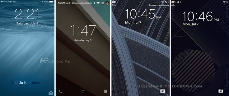 Visual Comparison Between BlackBerry 10.3, iOS 8 and Android L