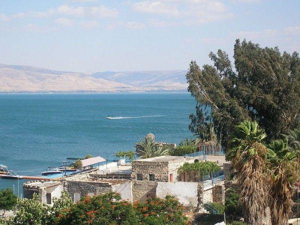 Vandaag de dag, het Meer van Galilea (Kinneret) is een belangrijke bron van water in Israël.-  van Galilea-Kinneret