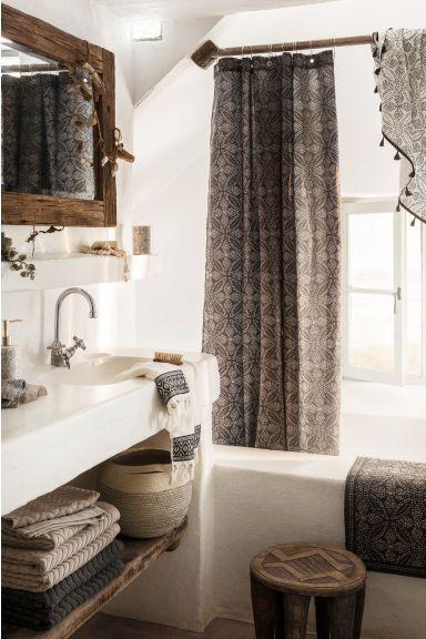 Mintás fürdőszobaszőnyeg - Antracitszürke/term. fehér - HOME | H&M HU 1