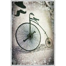 Mixed media Canvas - Vintage bicycle
