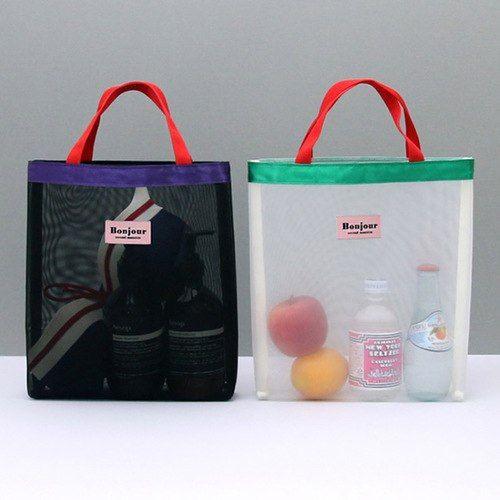 Bonjour daily mesh tote bag