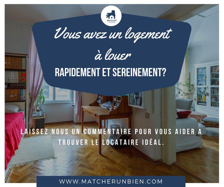 🏠🏠Vous avez un #appartement ou une #maison à louer RAPIDEMENT et SEREINEMENT partout en #France ou dans les #DOM ,  Vous êtes #Propriétaire ou #Locataire (avec autorisation du Propriétaire pour louer ou sous-louer ou co-louer) ✍️Laissez nous un commentaire sur ce post ou envoyer nous un message Facebook. Matcher un bien On vous propose une solution sans frais d'agence qui va vous permettre de déposer une annonce, consulter des profils locataires, fixer des rendez-vous et tout ça 100% en…