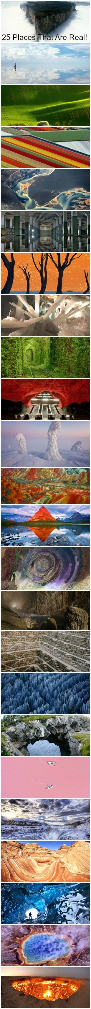 25 Places That Look Fake, But Are Real! Via Buzzfeed.com
