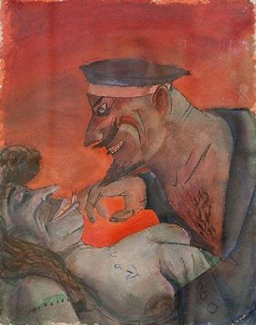Otto Dix - Mädchen und Matrose (mit Zigarette)