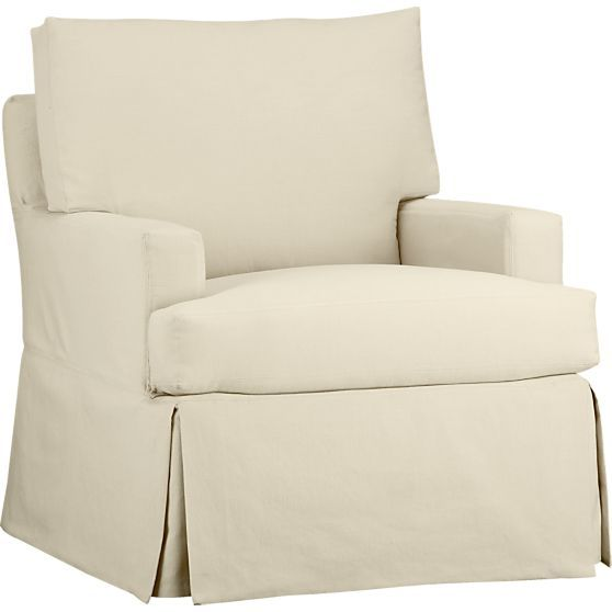 Beau Hathaway Swivel Glider In Chairs | Crate And Barrel   $1099