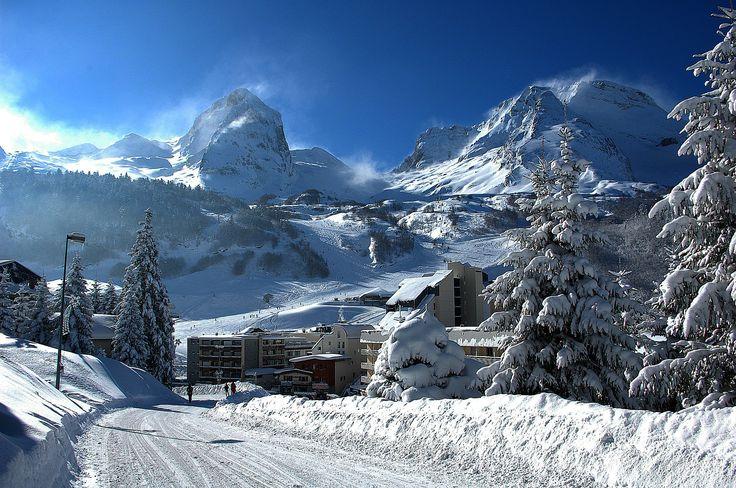 pyrénées sous la neige, Station de Gourette