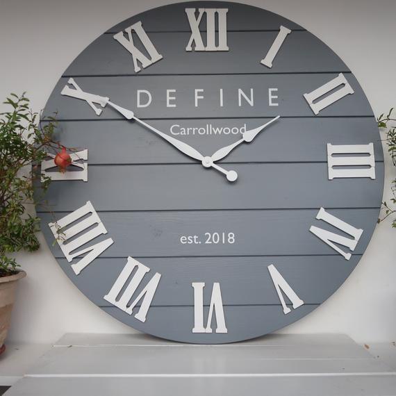 33 Personalized Wall Clock Large Wall Clock Oversized Etsy Personalized Wall Clock Large Wall Clock Wall Clock