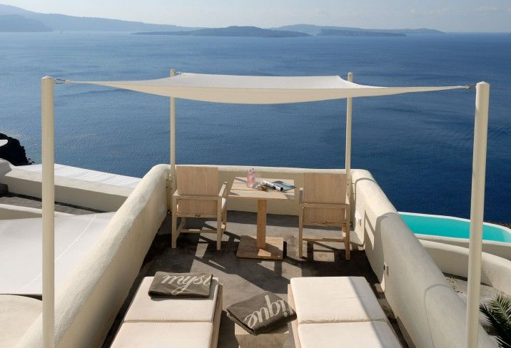 Rising over the rugged heights of the southernmost tip of Oia, Santorini, Mystique hotel is a stylish sanctuary removed from the camera flashing crowds.