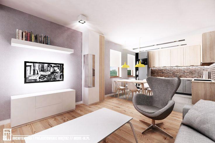 salon z aneksem kuchennym - zdjęcie od More IN