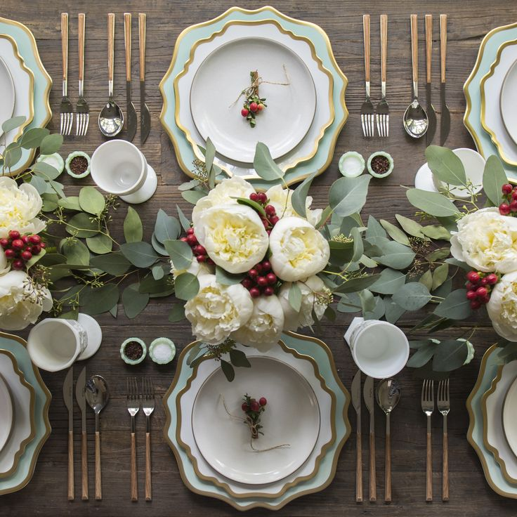Get your table ready for everything–from autumnal cheer to California Christmas chic...