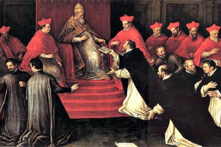 Il momento della conferma dell'Ordine dei frati predicatori da parte di Onorio III