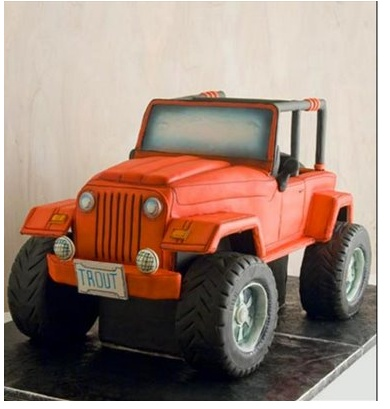Jeep...Just like ours, but its a cake...lol