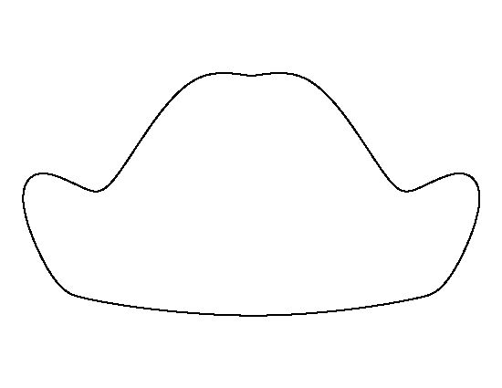 George Washington hat pattern. Use the printable outline for crafts, creating stencils, scrapbooking, and more. Free PDF template to download and print at http://patternuniverse.com/download/george-washington-hat-pattern/