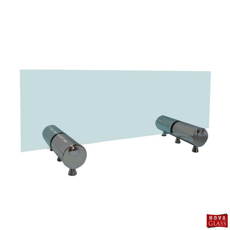 Μεταλλικό στήριγμα για κρύσταλλο τζακιού Κωδ. 6038 | Nova Glass e-shop